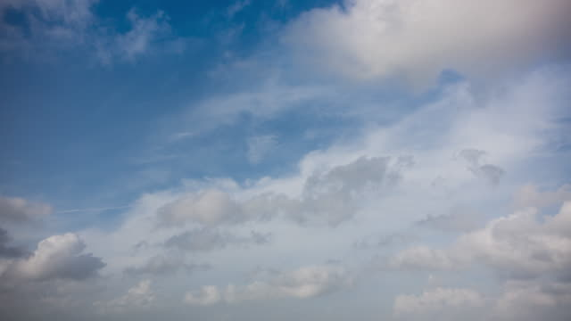 blue sky cloudscape time lapse - sky only stock videos & royalty-free footage