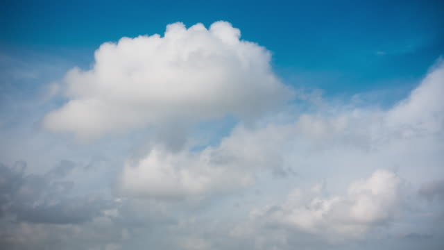 Blue Sky Cloudscape Time Lapse