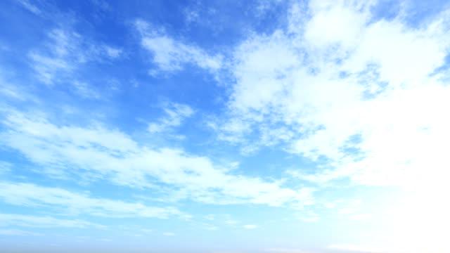 blue sky loop 006 - loopable elements stock videos & royalty-free footage