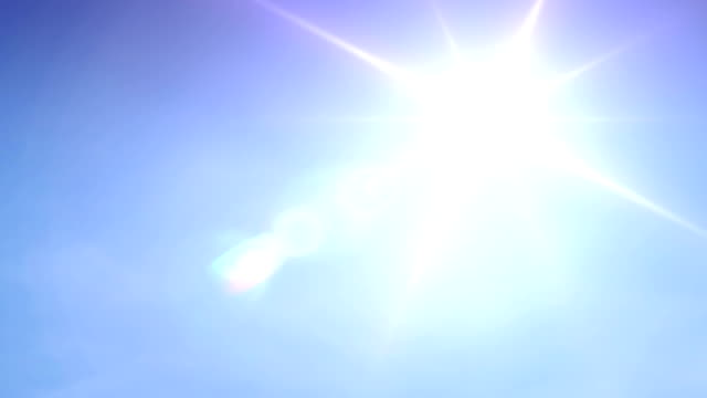 blue sky sun. hd - lens flare stock videos & royalty-free footage