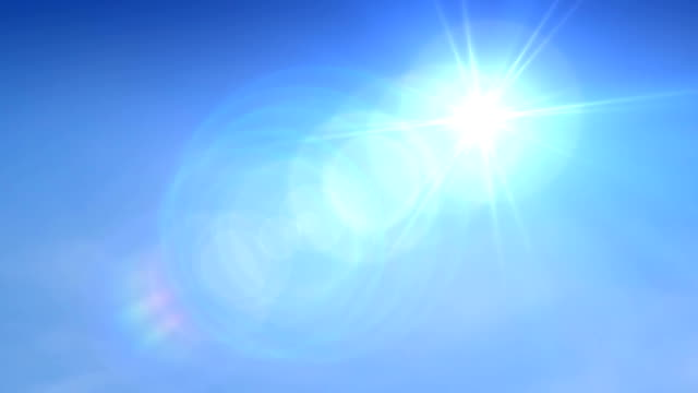 blue sky sun. hd - overexposed stock videos & royalty-free footage