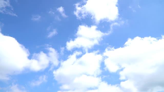 blue sky - blue cloud sky stock videos & royalty-free footage
