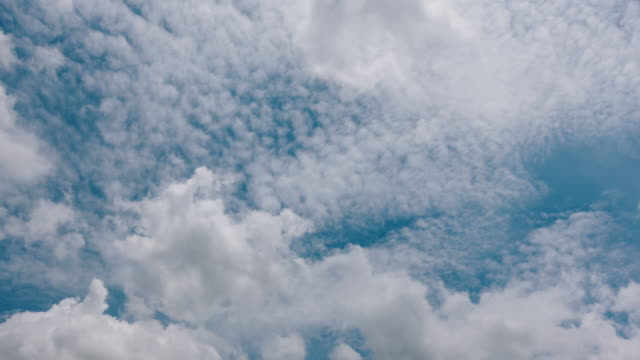 blue sky white clouds - cumulus cloud stock videos & royalty-free footage