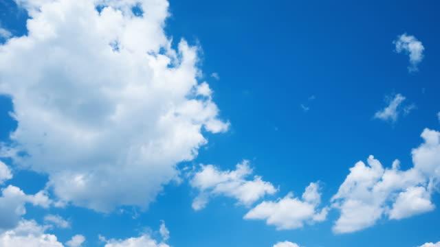 Blauer Himmel mit beweglichen Wolken