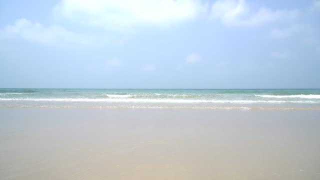 blue sky with sea and beach
