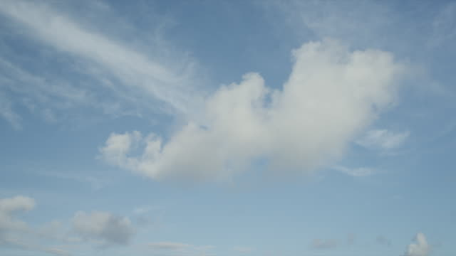 WS Blue sky with white clouds / Caribbean