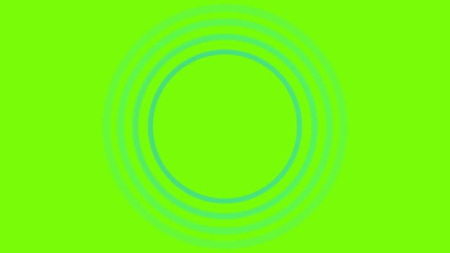 4k blue sonar circle loopable with green screen - direction stock videos & royalty-free footage