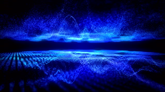 blue sound visualizer nice partice. - ultra high definition television stock videos & royalty-free footage
