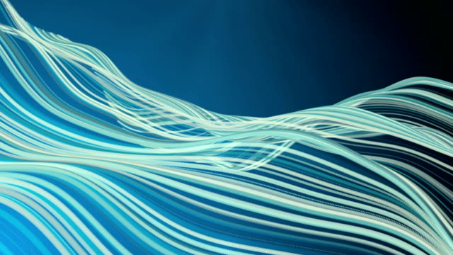 Blue Sound Waves Background - 4K Resolution