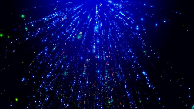 ブルーの輝くストリーム - 放射線点の映像素材/bロール