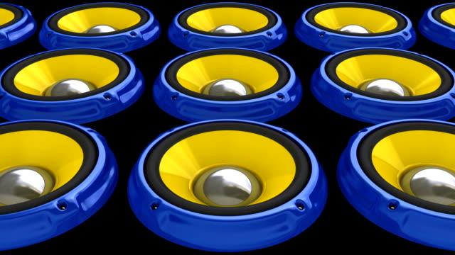 Blue Speaker floor (HD, Loop/Cycle, Alpha)