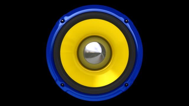 Blue Speaker (HD, Loop/Cycle, Alpha)