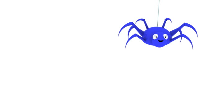 3d blue spider dropping in and out - spider stock videos & royalty-free footage