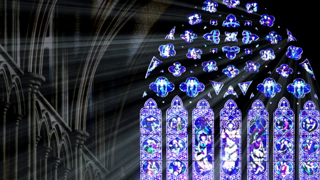 blue stained glass light rays - ornate stock videos & royalty-free footage