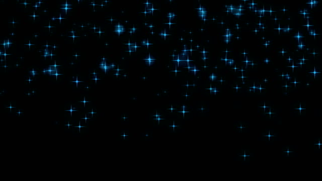 blue stars background 4k with alpha channel - scintillante video stock e b–roll