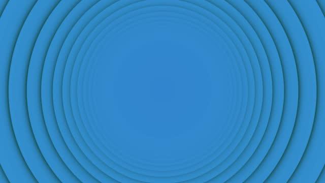 vídeos de stock, filmes e b-roll de 4k blue swinging ring movendo círculo loopable fundo vívido plano - sacudindo