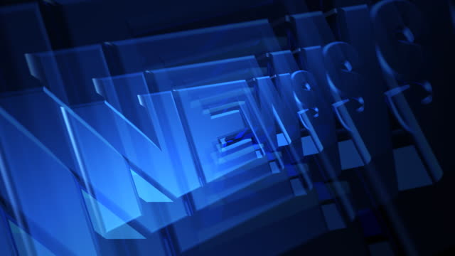 news 3d blue text - press release stock videos and b-roll footage