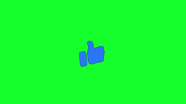 blue thumb up symbol icon animated - thumbs up stock videos & royalty-free footage