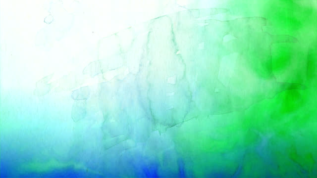 Blue to Green Watercolor Background