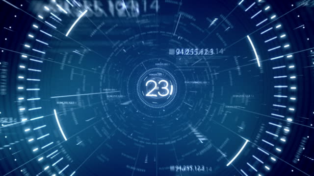 stockvideo's en b-roll-footage met blue tunnel data 30 seconds countdown - digitaal display