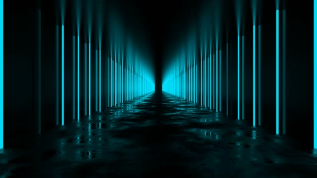 vídeos de stock e filmes b-roll de blue tunnel loop - infinito