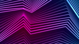 Blue ultraviolet neon curved lines video animation
