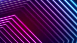 Blue ultraviolet neon laser beam lines video animation