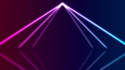 Blue ultraviolet neon laser lines video animation