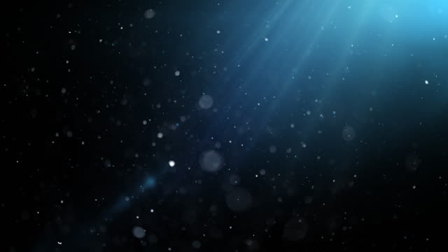 Blue Underwater with Sun Rays. 4K