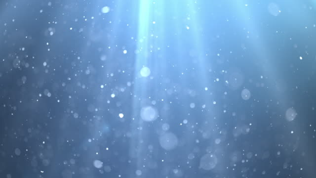 blue underwater with sun rays. 4k - ethereal stock videos & royalty-free footage