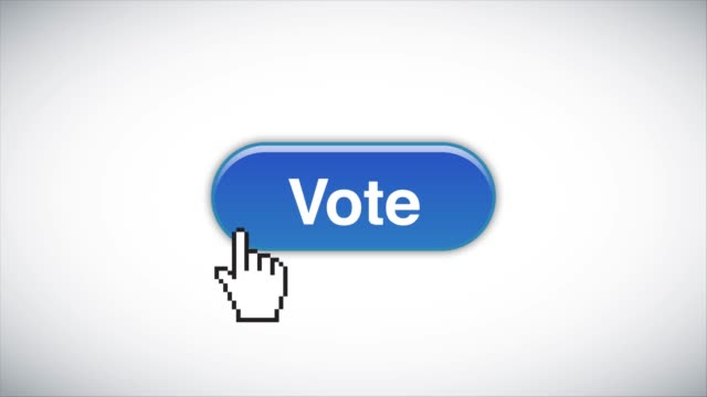 blue vote web interface button clicked with mouse cursor 4k stock video - voting ballot stock videos & royalty-free footage