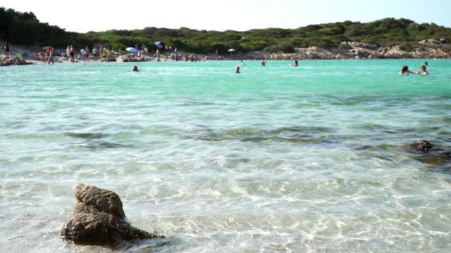 blue waters in the mediterranean sea. - sassari stock videos & royalty-free footage
