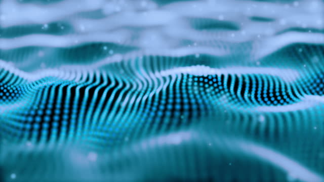 blue wave pattern and particular motion background