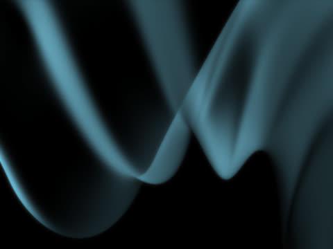 vídeos de stock, filmes e b-roll de blue wavy light. smoke effect - linha ondulada