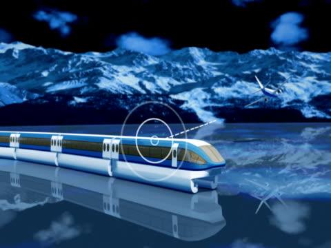Blue wireless communication concept  NTSC