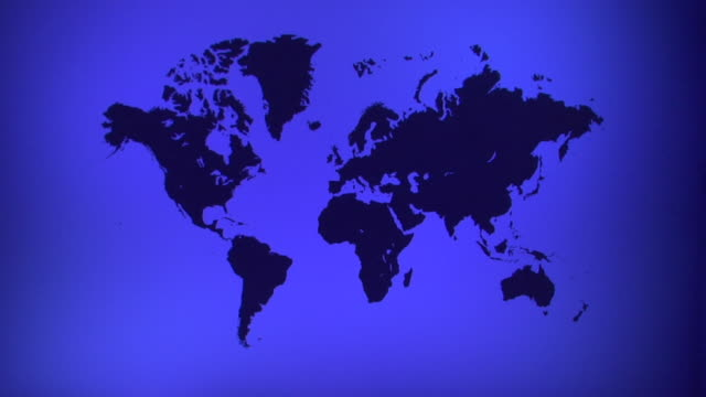 WS, Blue World map with silhouettes of continents