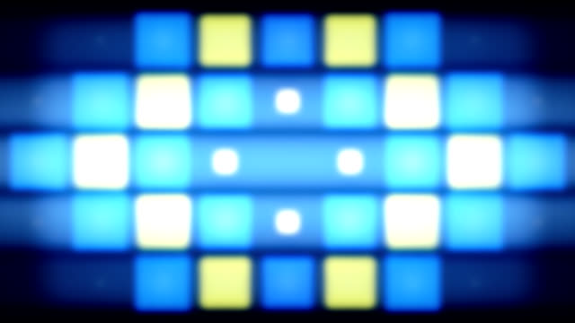 blue & yellow pixels lights - square shape stock videos & royalty-free footage