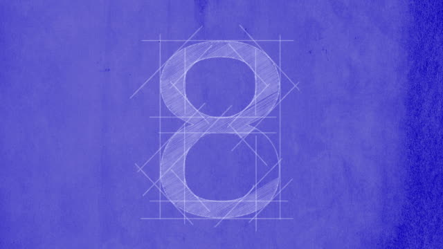 stockvideo's en b-roll-footage met blueprint countdown - number 8