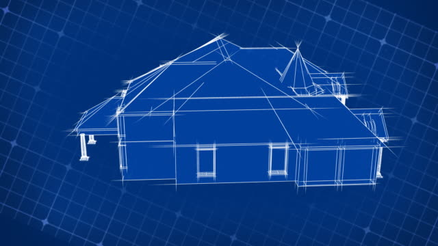 Blueprint House Design 3D