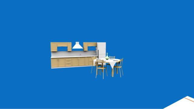 vídeos y material grabado en eventos de stock de bosquejo de house - interiores modelos