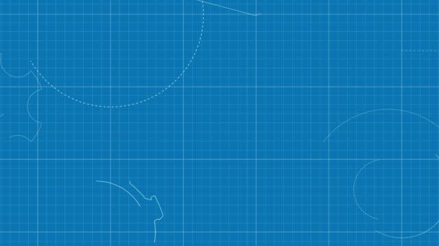 フランスの青写真 - 設計図点の映像素材/bロール