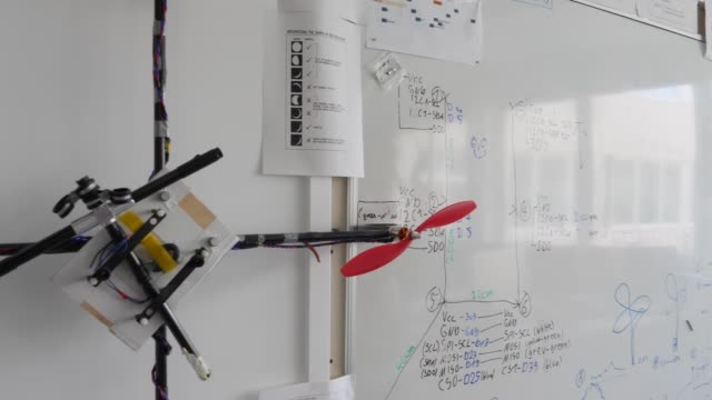 Blueprints for robots are seen on a wipe board at the Dahlem Center for Machine Learning and Robotics at the Freie Universität on June 04 2019 in...