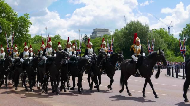 blues and royals cavalry - honour guard stock videos & royalty-free footage
