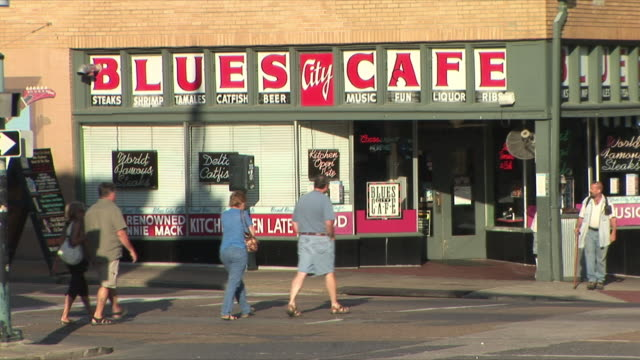 WS Blues Café in Beale Street, Memphis, Tennessee, USA