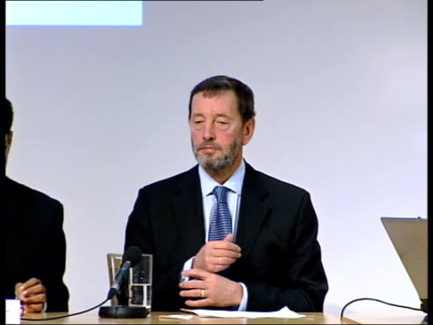 blunkett at conference itn england london david blunkett mp arriving at the conference gv conference ms blunkett sitting ms blunkett along to podium... - verification stock videos & royalty-free footage
