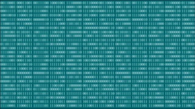 4k blur - binary code animation - zero stock videos & royalty-free footage
