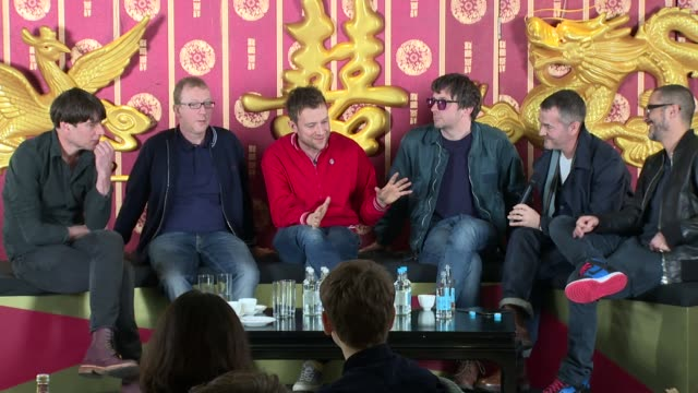 interview blur on hong kong north korea and singing on 19th february 2015 in london england - moderne rockmusik stock-videos und b-roll-filmmaterial