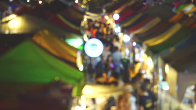 blur view night market - adulation stock videos & royalty-free footage