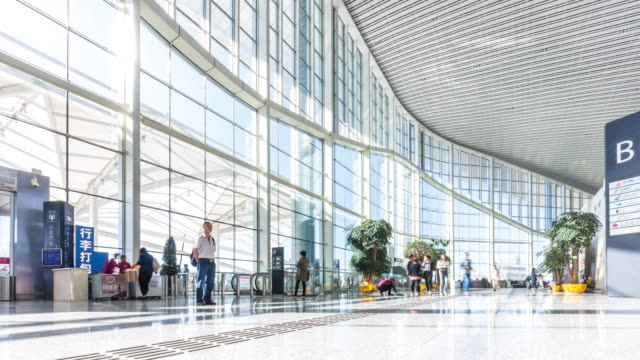 blur Blick auf moderne Halle Interieur time lapse 4 K