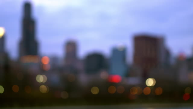 blurred abstract background of chicago cityscape office skyline skyscraper building - lakeshore stock videos & royalty-free footage